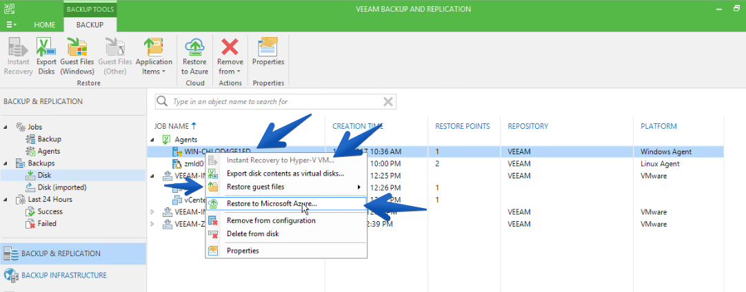 Veeam Agent for Microsoft Windows rvs Veeam Endpoint